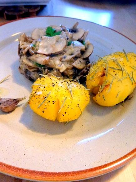 recette Cuisine moldave champignons à la crème