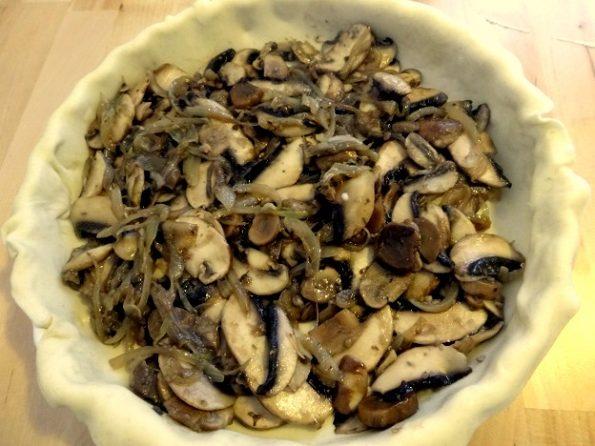 tarte aux champignons