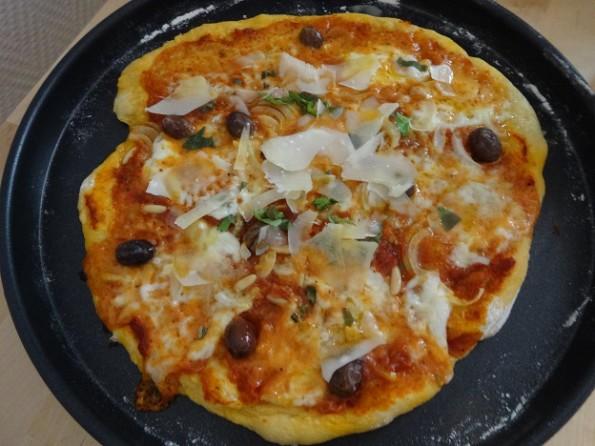 Pizza végétarienne recette cuisine moldave blog