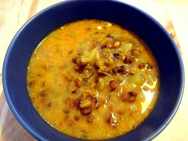 Cuisine moldave Soupe lentilles curry pommes de terre