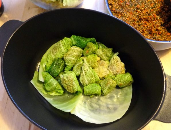 feuille de chou recette végétarienne